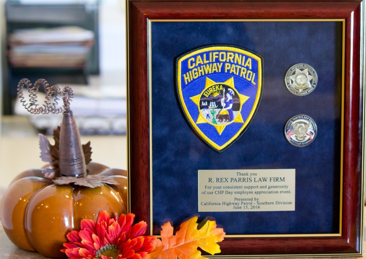 CHP Thanks PARRIS for Support