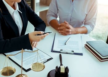 business lawyer is currently counseling the client medium