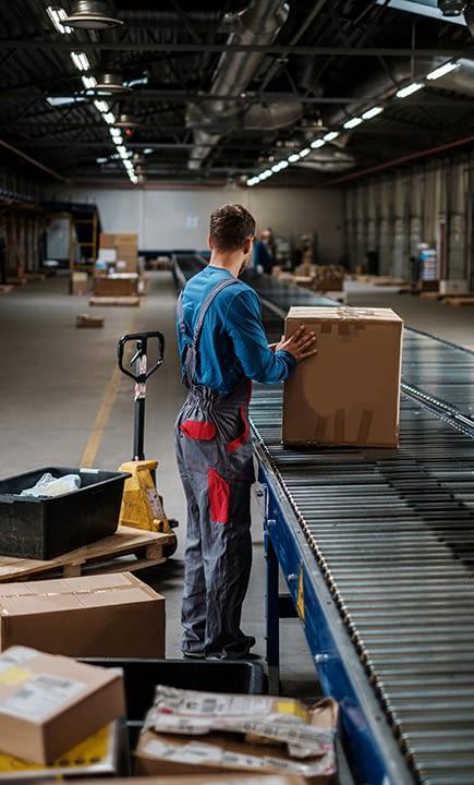 A warehouse worker earns California minimum wage